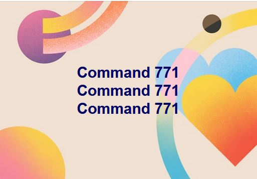 Protocol for emotional healing: Command 771 Command 771 Command 771